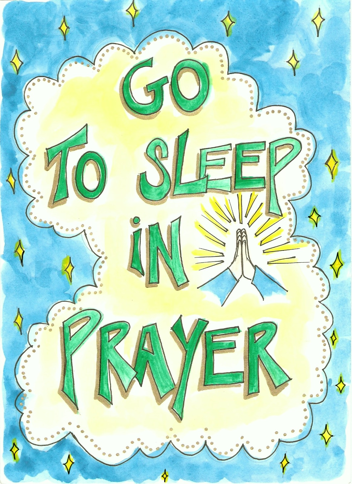 go to sleep in prayer