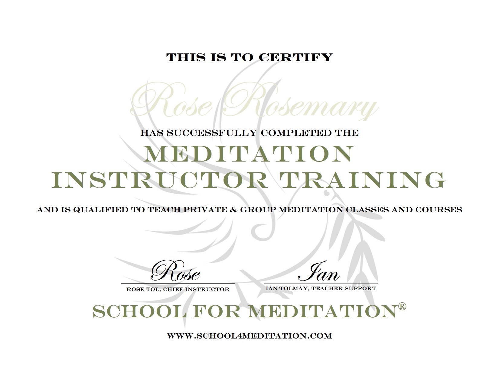Meditation teacher training course under the direction and guidance of the training author and instructor dr rose tol in partnership with ian tolmay you will also be in contact 1betcityfo Choice Image